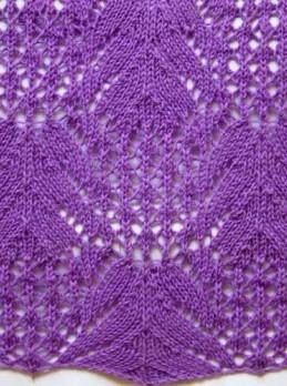 Ajourmuster (für den Schal) stricken