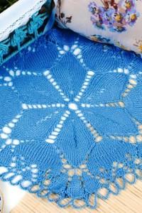 Deckchen in Blau