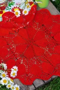 Deckchen in Rot