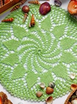 Deckchen in Hellgrün