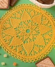 Deckchen in Gelb