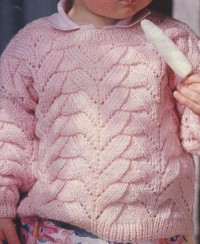 Rosa Kinderpullover