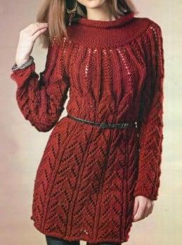 Kleid mit Rundpasse