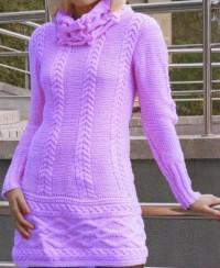 Kleid mit Reliefmuster