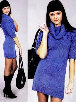 Kleid mit Querzopf