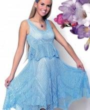 Kleid mit Schößchen