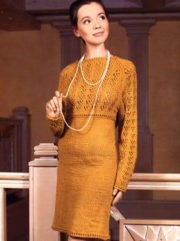 Kleid mit Lochmusterpasse