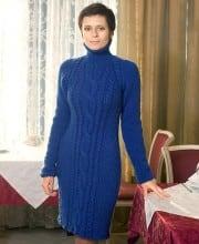 Kleid mit Zopfmuster