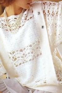 Festlicher Pulli in Weiß