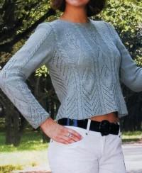 Pullover mit Ajourmuster und Zopfmuster
