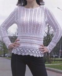 Pullover mit Ajourmuster