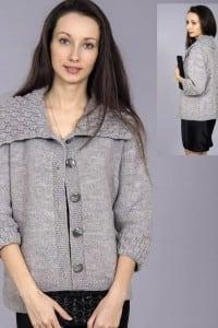 Jacke mit breitem Kragen