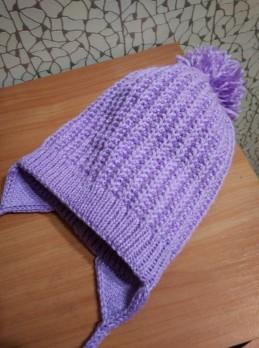 Doppelte Mütze für Mädchen