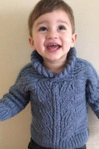 Baby Pullover im Halbpatent