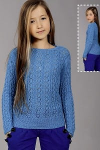 Kinderpullover im Ajourmuster (Pullover für Mädchen)