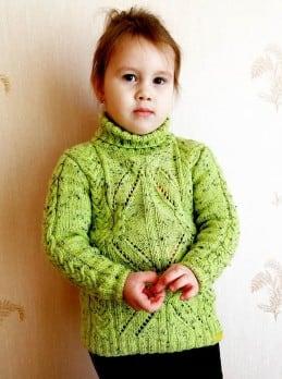 Rollkragen Pullover für Mädchen