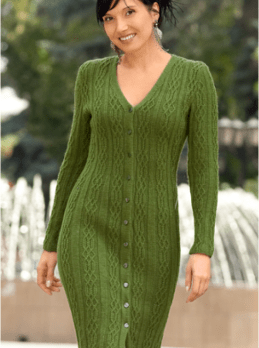 Kleid im  Reliefmuster