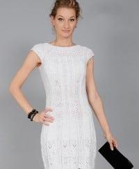 Kleid mit Ajourmusterpasse