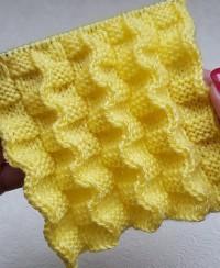 Plissee Muster für Schals