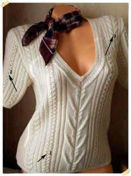 Die Muster für den Pullover