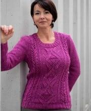 Pullover mit Ajourrauten- und Zopfmuster