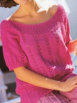 Pinkfarbener Pulli in 2 Längen