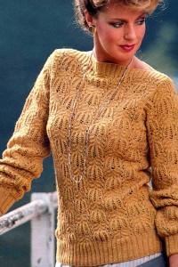 Damenpullover mit Ajourmuster