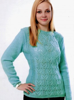 Pullover mit Ajourmuster