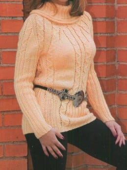 Pullover mit Zopmuster