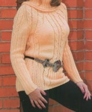 Pullover mit Zopmuster