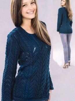 Pullover im Ajour-und Zopfmuster