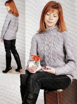 Pullover im Rautenmuster