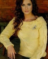 Pullover mit breitem Carmenkragen