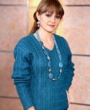 Pullover im Zopfmuster