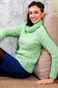 Pullover im Reliefmuster