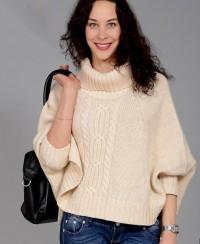 Pullover mit breiten Ärmeln