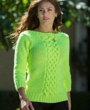 Pullover mit Mittelzopf