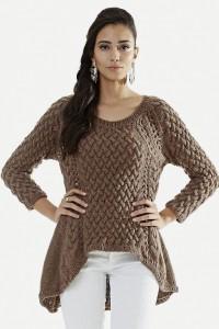 Pullover mit seitlichen Schrägen