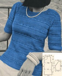 Pullover mit Spitzenmuster