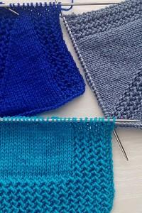 Jackenblende und Raglan-Linie stricken